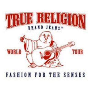 Mens true religion jeans 34 X 33 EUC Brown stitch